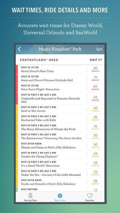 Disney World Wait Times, Dining and Maps Free by Undercover Tourist iPhone Screenshot 4