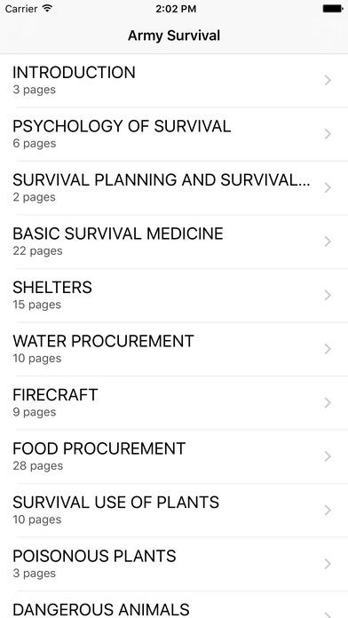 Survive it! - Wilderness Survival Manual iPhone Screenshot 2