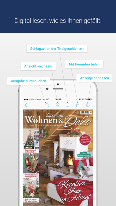 LandIDEE Wohnen & Deko - Magazin für Landhausstil iPhone Screenshot 1