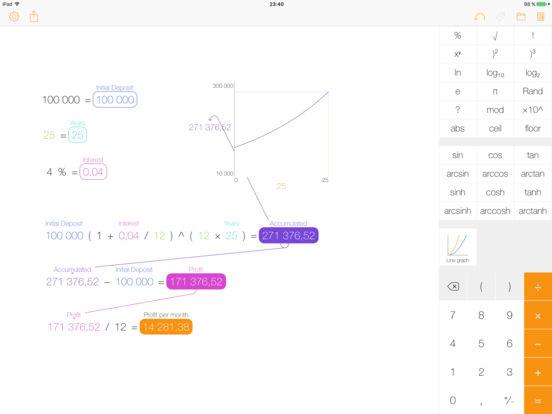 Tydlig - Взгляните на калькулятор по-новому! Screenshot
