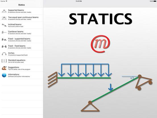 Statics (Civil Engineering) iPad Screenshot 1