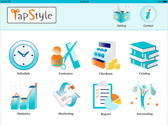 TapStyle for hair salon screenshot