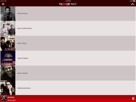 Sonar FM Mobile iPad Screenshot 2