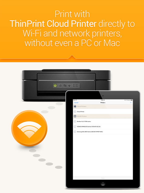 ThinPrint Cloud Printer – Print directly via WiFi / WLAN or via cloud to any printer Скриншоты6