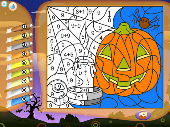 Color by Numbers - Halloweenscreeshot 2