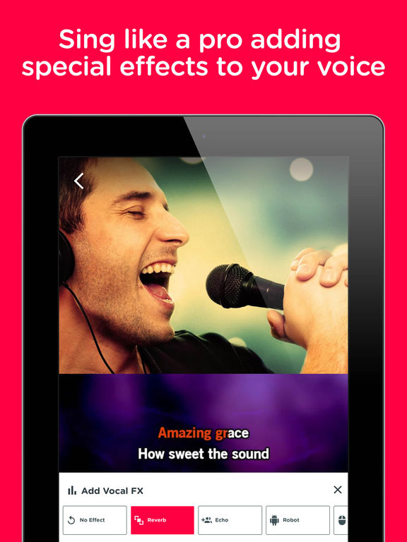 Red Karaoke Sing & Record. Sing with 70,000 free karaoke & share your videos screenshot