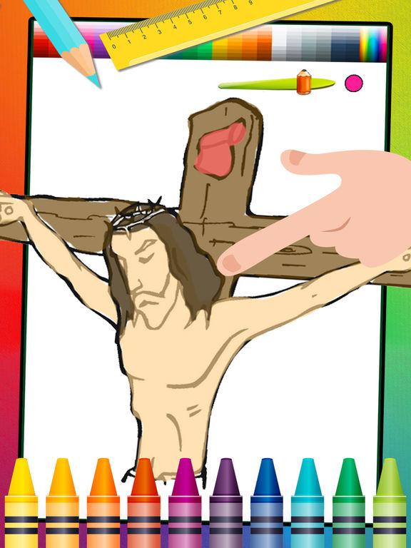 Библия Книжка-раскраска Христианская Иисус обучающая игра для детей дошкольного Скриншоты2
