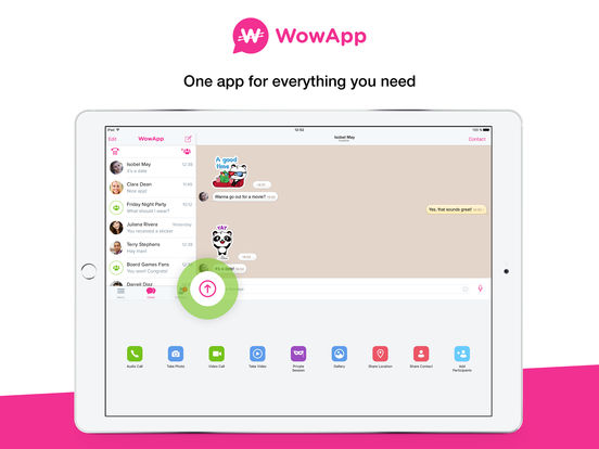 WowApp Messenger screenshot