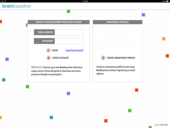 BrainBaseline iPad Screenshot 1
