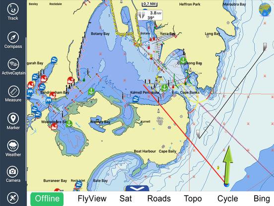 Marine: Sydney HD - GPS Map Navigator iPad Screenshot 3