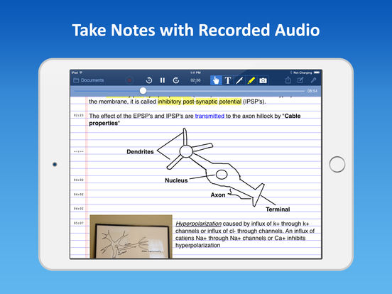AudioNote - Notepad and Voice Recorder iPad Screenshot 1