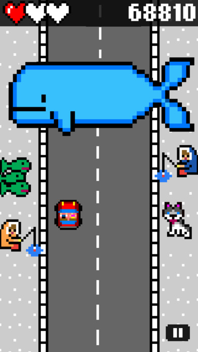 Drive and Jump: 8-bit retro racing action Screenshots