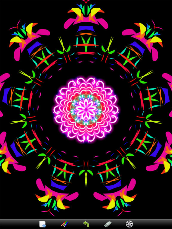 Kaleidoscope Drawing Pad screenshot