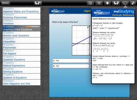 meStudying: Algebra I iPad Screenshot 1