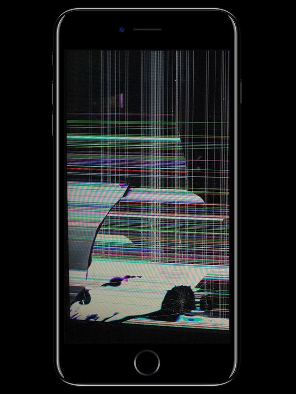 cracked iphone wallpaper prank