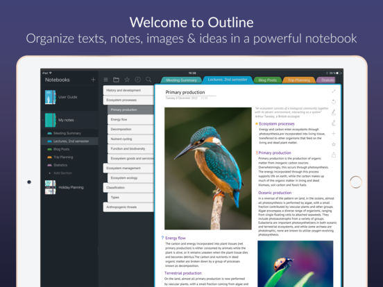 Outline – Take Beautiful Notes
