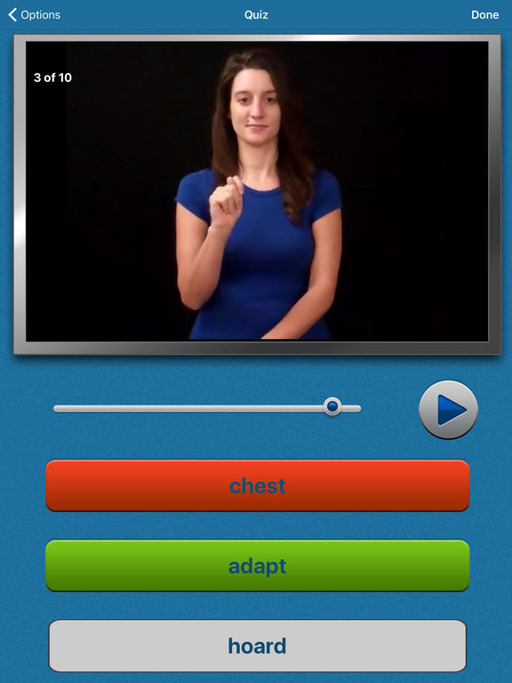 ASL Fingerspell American Sign Language Dictionary screenshot