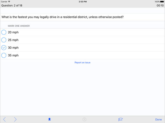 DMV Test Prep - Wyoming iPad Screenshot 3