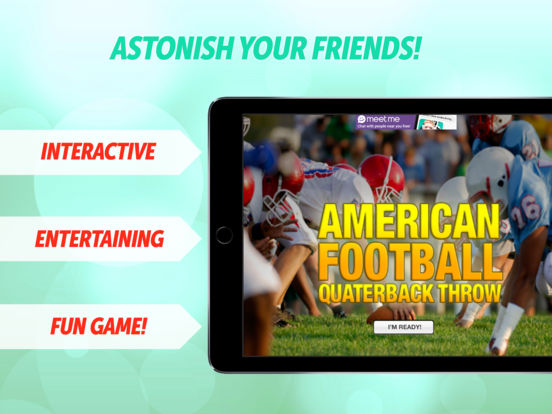 Free Football Quarterback Throw iPad Screenshot 1