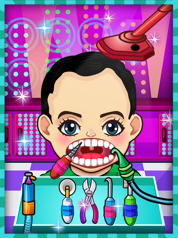 Celebrity Crazy Dentist Teeth Doctor Little Office & Shave Beard Hair Salon Free Kids Gamesscreeshot 2