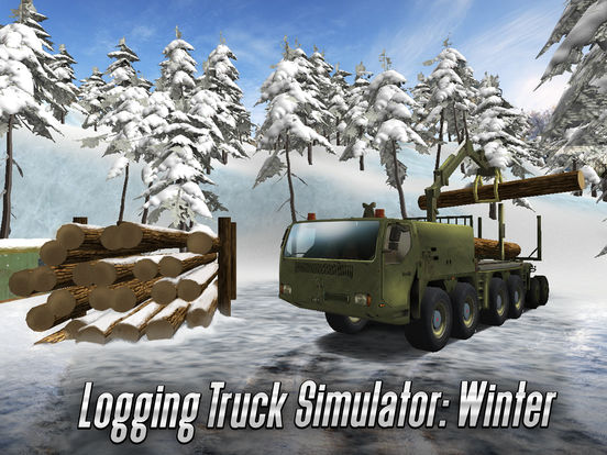 Winter Logging Truck Simulator 3D Full на iPad