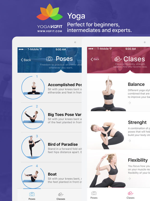 Yoga - Poses & Classes Screenshots