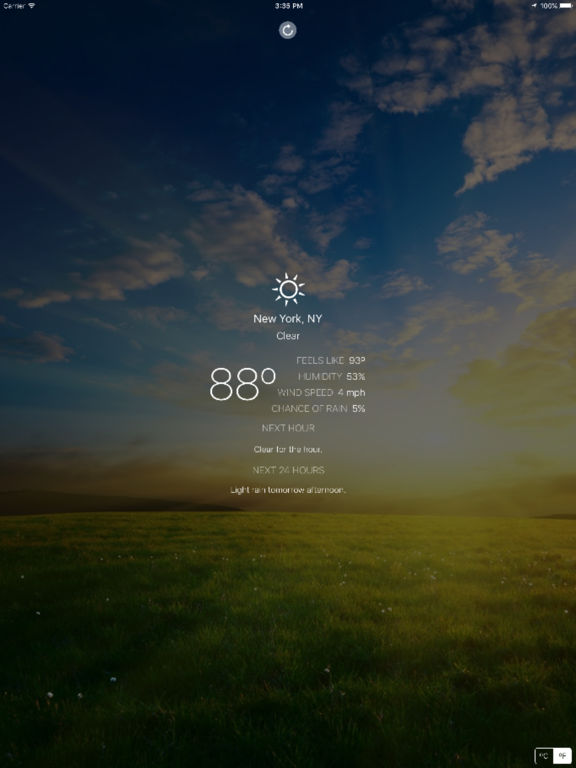 Outside - your local weather at a glance Screenshots