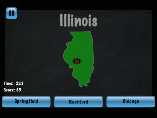 States and Capitals Challenge – Flash Cards Speed Quiz for the United States of America iPad Screenshot 2