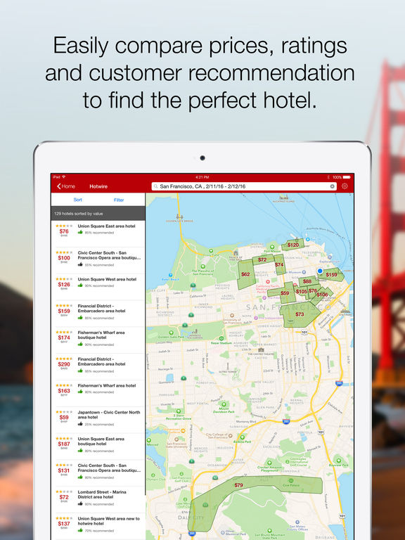 Hotwire – Hotel Deals, Car Rentals, and Last Minute Travel App screenshot