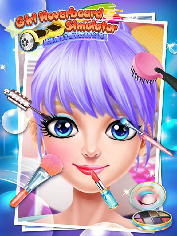 Girl Hoverboard Simulator - Makeup & Dressup Salon Game FOR FREEscreeshot 5