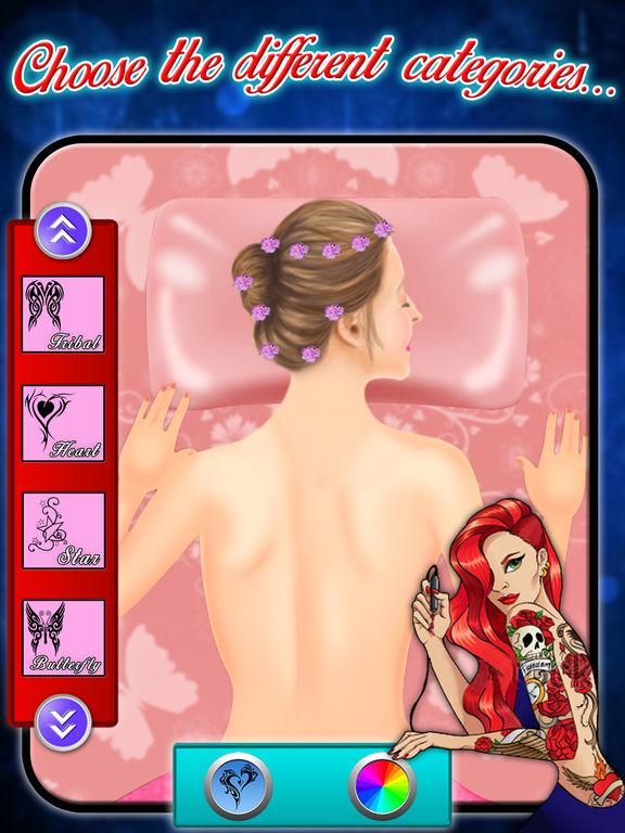 app shopper back tattoo art maker girls tattoo maker games games. Black Bedroom Furniture Sets. Home Design Ideas