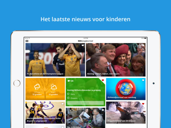 NOS Jeugdjournaal iPad Screenshot 1
