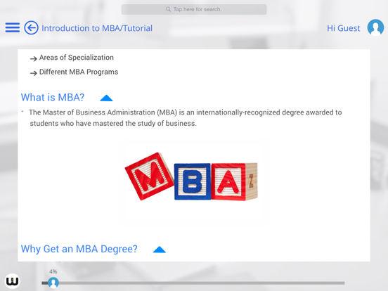MBA for iPad iPad Screenshot 2