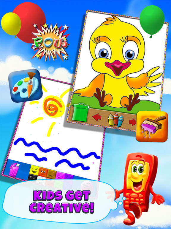 Screenshots of Phone for Kids – All in One Activity Center for Children HD for iPad