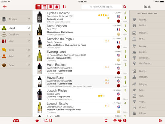 VinoCell: manage your wine cellar and tasting notes like a pro screenshot