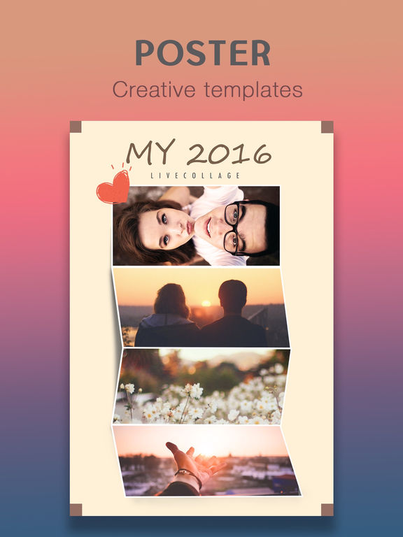 LiveCollage - Instant Collage Maker & Photo Editor  & FX Editor FREE screenshot