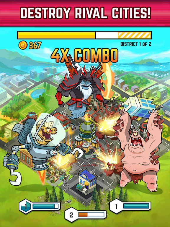Smash Monsters - City Rampage Screenshots