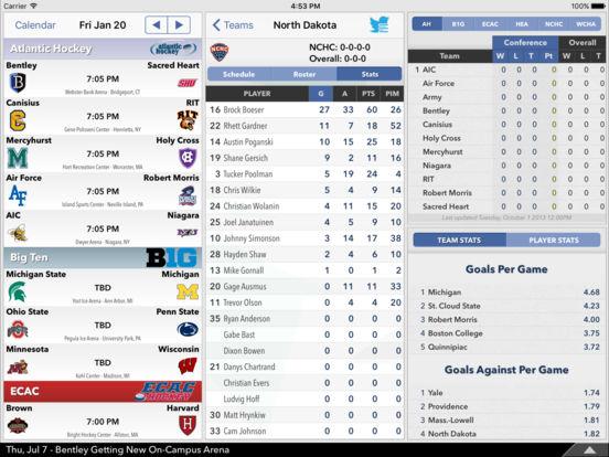 College Hockey News iPad Screenshot 1
