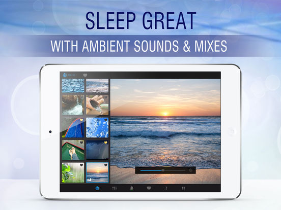 Sleep Pillow Ambiance: a white noise machine lite iPad Screenshot 1