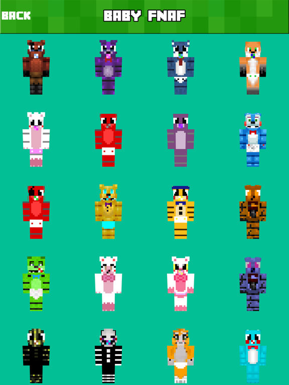Screenshots of BABY SKINS FREE Aphmau FNAF Skin for Minecraft PE for iPad