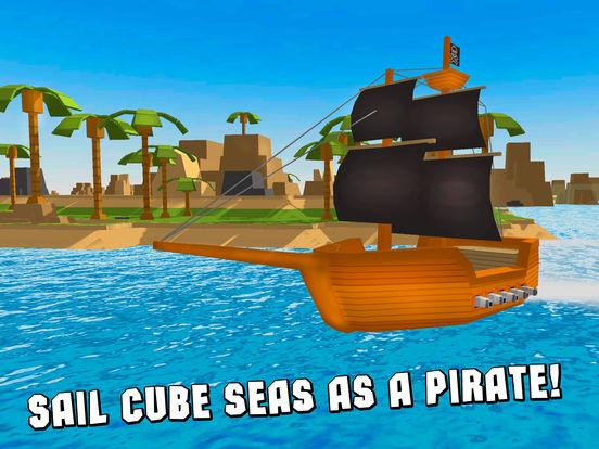 Pixel Pirate Ship Simulator 3D Full screenshot 5