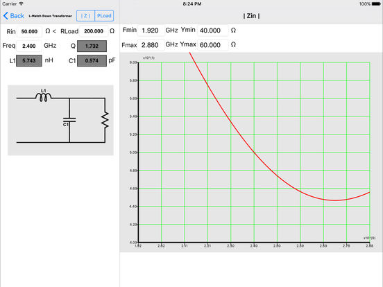 Impedance Match iPad Screenshot 1
