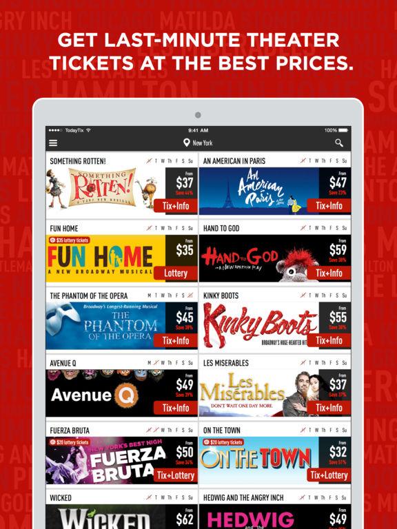TodayTix — Last-minute Broadway & theater tickets screenshot