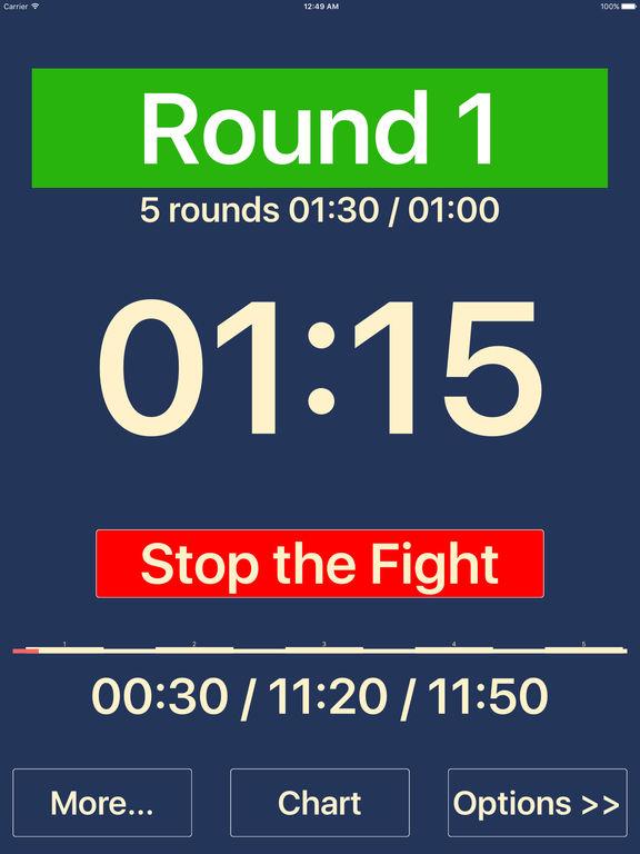 Boxing iTimer screenshot