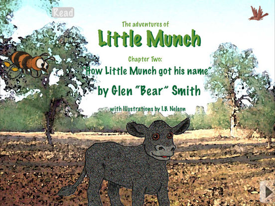 How Little Munch got his name (3rd in animated series) - Adventures of Little Munch, Animated Book App for Kids iPad Screenshot 1