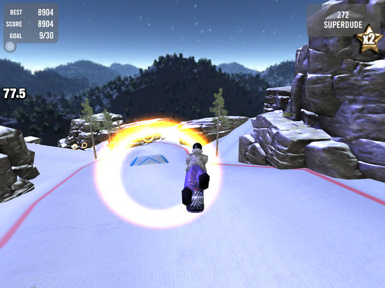 Crazy Snowboard iPad Screenshot 4