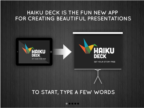 Haiku Deck Presentation and Slideshow App with Beautiful Charts and Graphs screenshot