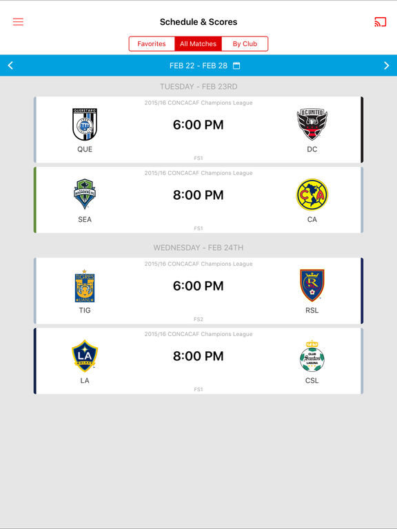 MLS Matchday screenshot