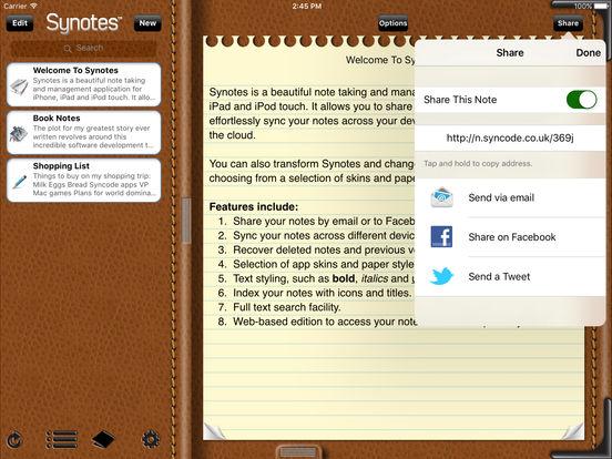 Synotes Mobile iPad Screenshot 3