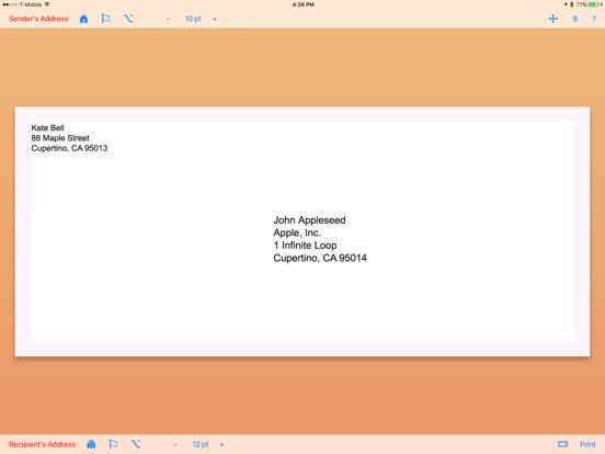 Envelope Maker iPad Screenshot 1